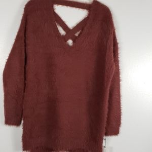 Ruby Moon Criss Cross  Back Sweater